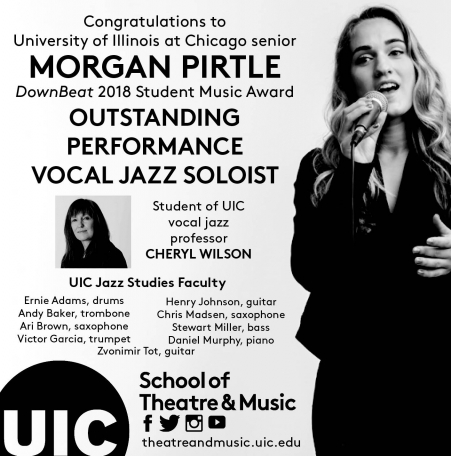 UIC Senior Morgan Pirtle Wins National Jazz Awards
