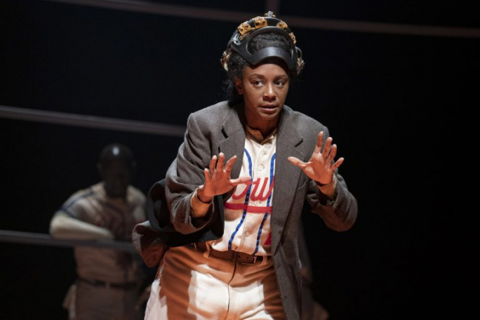 "April Mathis in Roundabout Theatre Company's production of ""Toni Stone."" (Photo: Joan Marcus)"